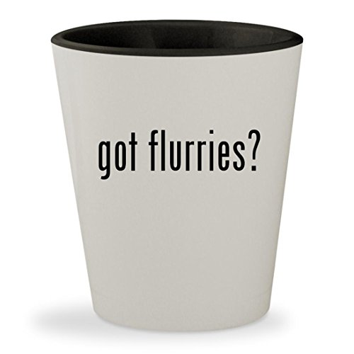got flurries? - White Outer & Black Inner Ceramic 1.5oz Shot (Flurry Moc)