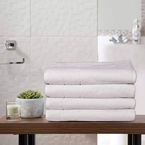- Scrafts Bath Linens 100% Cotton Luxury Hotel & Spa Bath Towel, Bath Towel- Soft- High Absorbency- Cross Border - Set of 4, 30