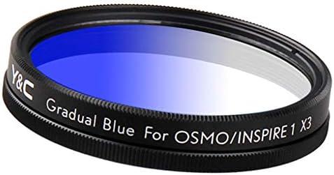 43mm グラデーションカラーフィルター DJI OSMO/Inspire 1 X3用 減光 ニュートラルデンシティフィルター - 青