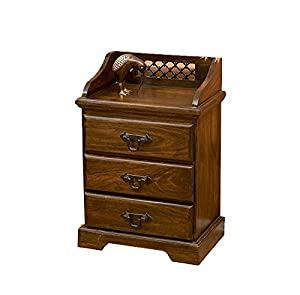 Jangir JDBT154 Bed Side Table (Glossy Finish, Brown)