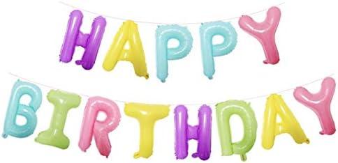 パーティーパーク HAPPY BIRTHDAY アルファベット バルーン カラフル 誕生日 お祝い バースデー 飾り付け 装飾 デコレーション
