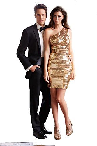Madison James 15-137 Short One Shoulder Evening Dress