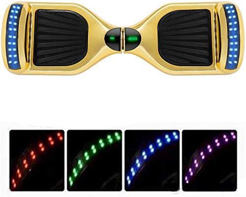 Magic Vida Skateboard Électrique 6.5 Pouces Bluetooth avec LED Gyropode Auto-Équilibrage de Bonne qualité pour Enfants et Adultes(Rose Camouflage