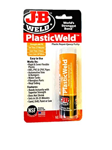 J-B Weld 8237 PlasticWeld Plastic Repair Epoxy Putty-2 oz