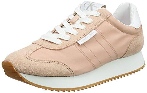 Rose Femme suede 000 Jeans Klein Nylon Colette Calvin Sneakers dsk Basses w8PBqxS