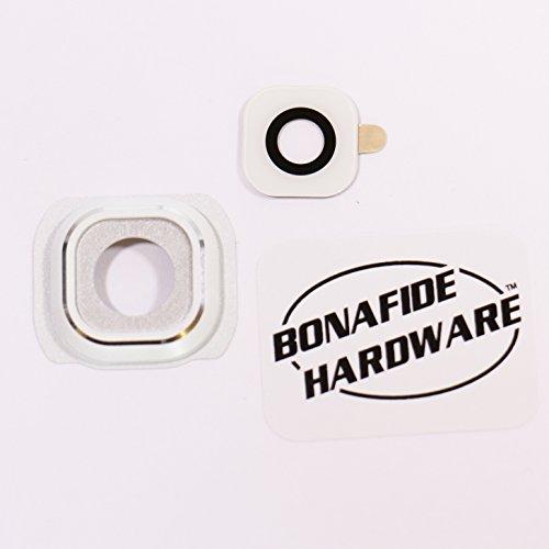 Bonafide HardwareTM - Galaxy S6 Camera Glass lens replacement USA seller (White)