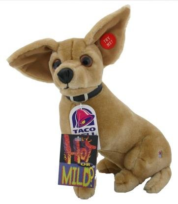 Authentic Taco Bell Chihuahua Talking Plush Dog Toy 11