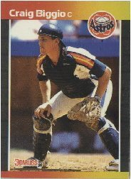 1989 Donruss Craig Biggio Rookie Baseball Card #561 - Shipped In Protective Display Case!
