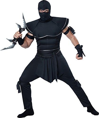 California Costumes Men's Stealth Ninja, Black,