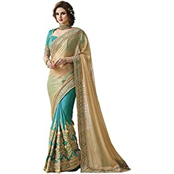 Aarah Women's Wedding And Party Wear New Indian Beautiful Saree Free Size