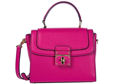 sac amp; à femme greta fuxia en main Dolce Gabbana cuir EUqdvwRRf