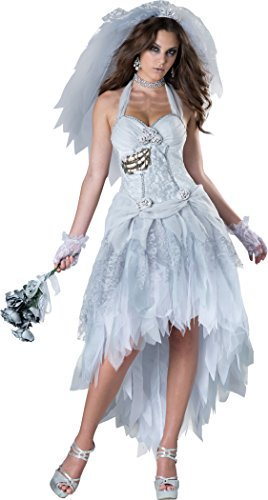 InCharacter Costumes Women's Corpse Bride Costume, Grey/White, Medium]()