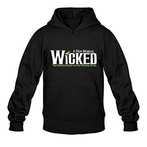 Price comparison product image Men's WICKED Logo Hooded Sweatshirt Size XL Black