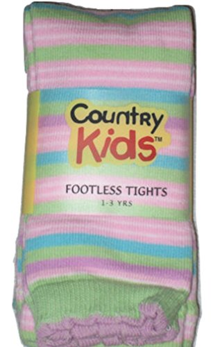 - Country Kids Girls Footless Capri Length Cotton Tights