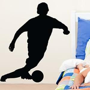 "Soccer V Silhouette Wall Decal Cutout 31""x36"""