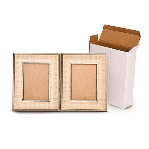 Premium Decor Picture Frame - Wall Hang or Desktop Display - Wood Finish Mordern Designs - Various Sizes 4x6 5x7 8x10 11x14 (5x7, set of 2, Classic) - Triple Frame Set