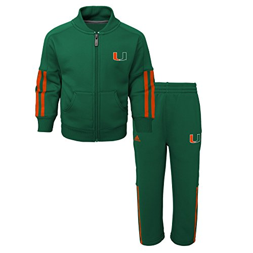 Miami Hurricanes Set (OuterStuff NCAA Miami Hurricanes Children Boys Triumph performance Jacket & Pant Set, 12 Months, Dark Green)