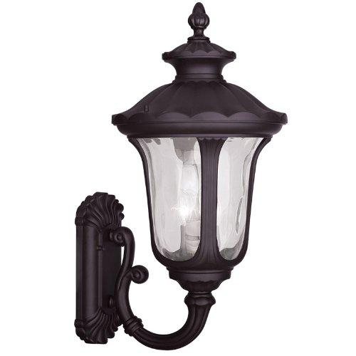 Livex Lighting 7856-07 Oxford 3 Light Outdoor Wall Lantern, Bronze by Livex Lighting B00DS3SRTC