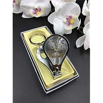 Amazon.com: 12) Nuestra Boda Recuerdos. Llavero de plata ...