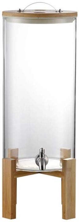気密竹ふたとワインビールパンチアイスティー用ステンレススピゴット木製スタンドのカクテルディスペンサーワインボトル (Color : Steel Tap, Size : 11L)