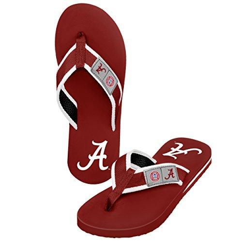 2015 NCAA College Mens Locker Label ContourMens Locker Label Contour Beach Summer Sandal Flip Flops (Alabama Crimson Tide, Medium) -