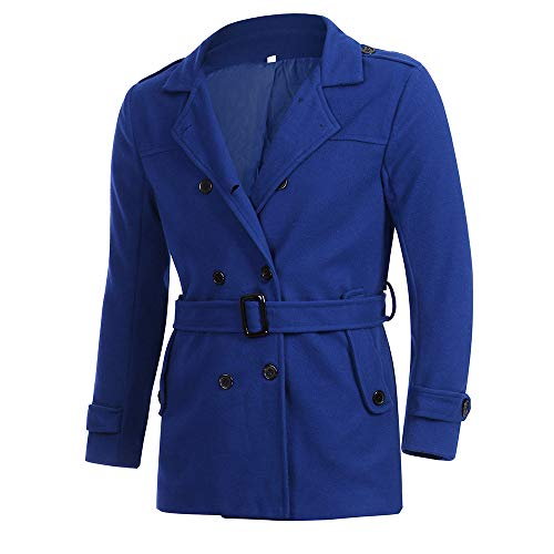 SMALLE ◕‿◕ Clearance,Outwear for Men, Autumn Winter Slim Fit Long Sleeve SuitTop Jacket Trench Coat Outwear by SMALLE (Image #1)