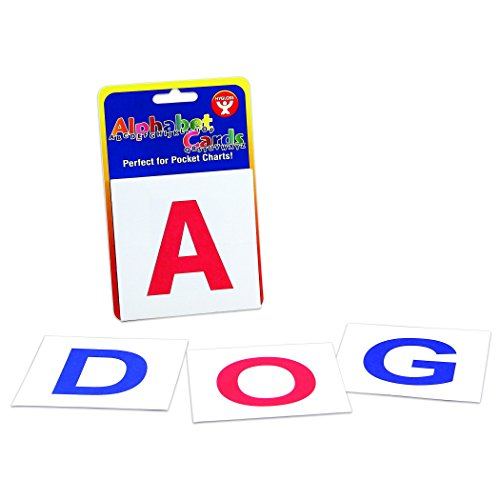 Hygloss Products HYG61492 A-Z Upper Case Letters Alphabet Cards, 0.25
