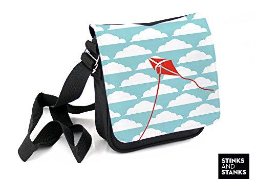 Borsa per bambini, borsa a tracolla nuvole orripilante HTS024