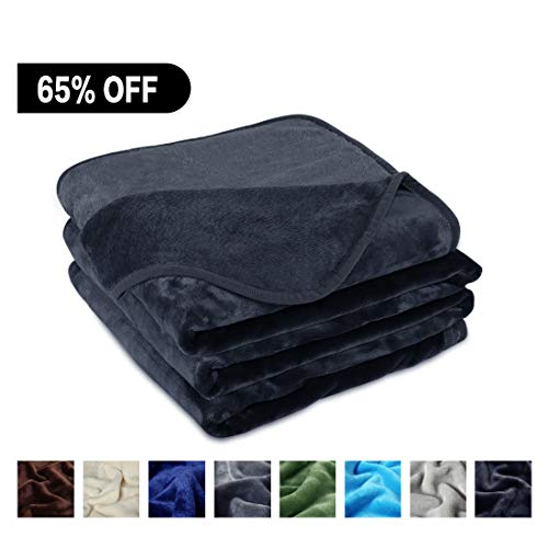 FREELIFE Lightweight Blankets Season%EF%BC%88Dark Grey%EF%BC%8CQueen product image