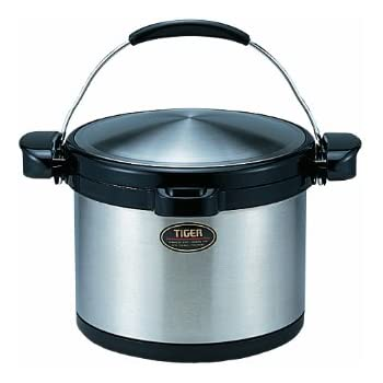 TIGER NFB-C520 Non-Electric Thermal Slow Cooker 5.49qts / 5.2L,Silver