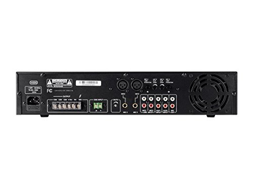 Monoprice 114886 Commercial Audio 120W 5ch 100/70V Mixer Amp with Microphone Priority (NO LOGO) by Monoprice (Image #2)