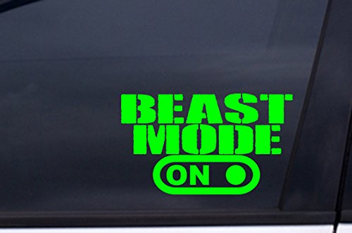 Beast Mode On Vinyl Decal Sticker 4