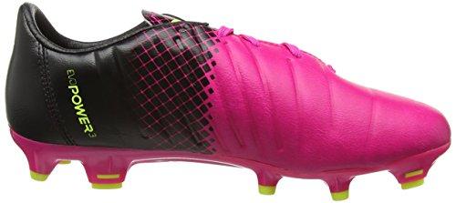 Puma Evopower 3.3 Tricks Firm Ground Junior, Botas de Fútbol Unisex Niños, Rosa-Pink (Pink Glow/Safety Yellow), 34.5 EU