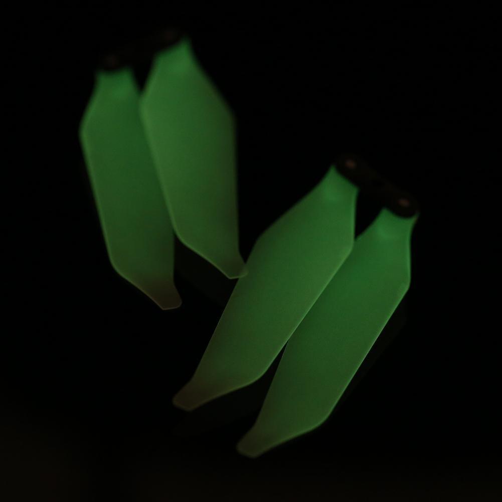Dilwe 2 Paires h/élice Lumineuse de Drone Platinum Lames dh/élices CW CCW Pliables Accessoire pour DJI Mavic Pro