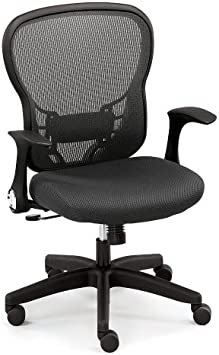 Amazon Com Black Mesh Office Chair With Memory Foam And Black Frame Nbf Signature Series Linear Collection Furniture Decor