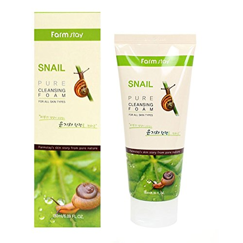 Farm Stay Korean Pure Snail Foam Cleanser [ 180ml / 6.09oz ] 폼클렌징 (Best Korean Foam Cleanser For Oily Skin)