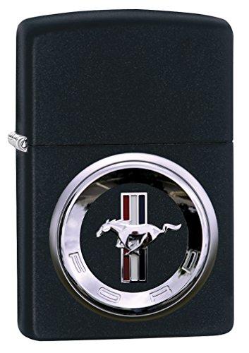(Zippo Lighter: Ford Mustang Logo - Black Matte 79320)