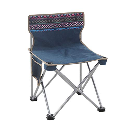 BLEVET Portable Folding Camping Chair Outdoor Beach Stool for Hiking Camping Fishing Picnic Party BBQ Travel Gardening BK002 (National, M) ()