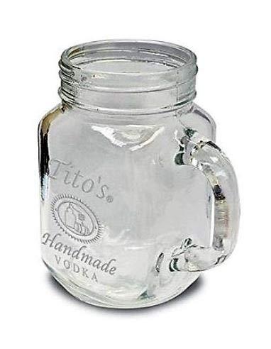 Tito's Vodka 12oz Mason Jar Drinking Glass