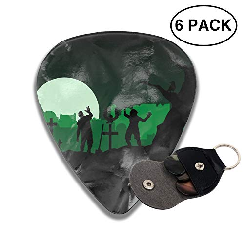 Celluloid Guitar Picks 3D Printed Green Halloween Zombies Best Guitar Bass Gift For Student