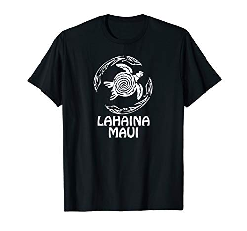 Retro Lahaina, Maui Tribal Turtle Souvenir Gift  T-Shirt ()
