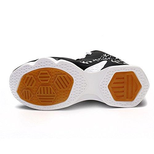 Scurtain Mens Prestanda Mode Sneakers Sport Hög-top Basketskor Storlek 40-46 Vit