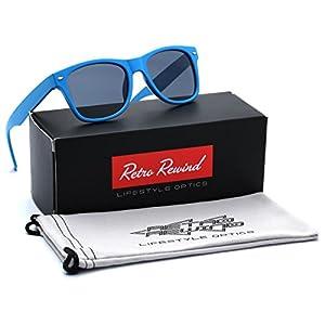 Kids Neon Classic Sunglasses Age 3-12 - Blue