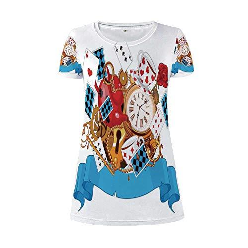 Alice in Wonderland A Flamboyant Round Necked Dress,for Women,S]()