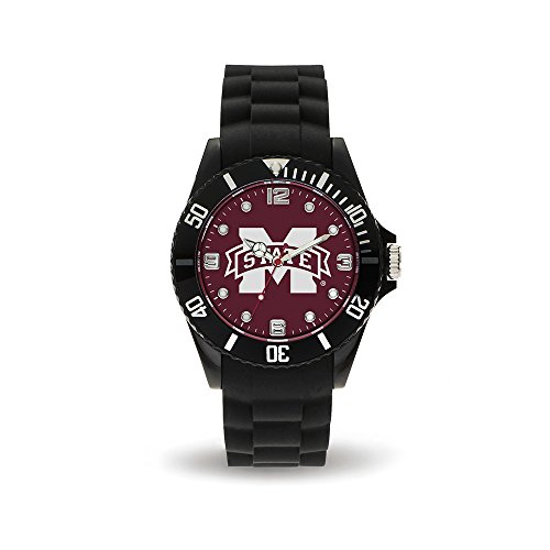 NCAA Mississippi State Bulldogs Spirit Watch, Black (Mississippi State Bulldogs Clocks)