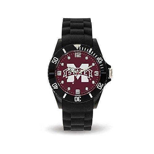 NCAA Mississippi State Bulldogs Spirit Watch, Black (Mississippi State Bulldogs Clocks)