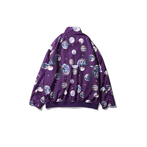 Skkmall color Uomo Con Da Colore White Sportiva Purple Xxl Giacca Size Di Retrò Stampa tqz1yrtcFw