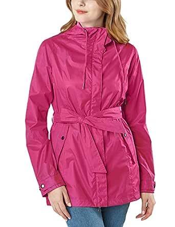 Tesla Women's Lightweight Rain Trench Coat FET24-MGT