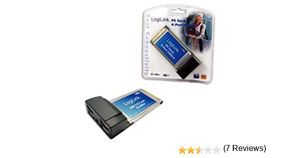 LogiLink PC0040 tarjeta y adaptador de interfaz - Accesorio (CardBus, USB 2.0, Type II, Portátil, Negro, Plata, Windows 2000 Professional, Windows 7 Home Premium, Windows 7 Professional, Windows 7 Ultimate, Windo): Amazon.es: Informática