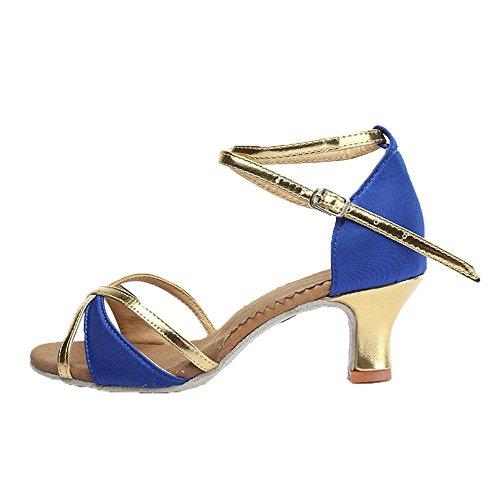 Pour Danse En De Bal Couleur Latine 4 Yff Salsa Filles Vente Femmes Blue 5cm Gros Tango Chaussures Chaude 8qdOSdAxw